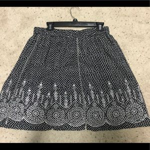 Black and White Patterned Anthropologie Skirt